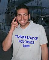 Babis Yanmar technician Kos