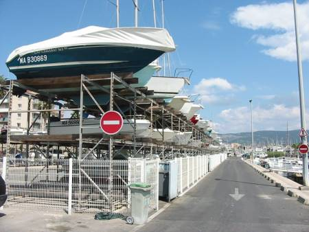 Yacht boat storage La Ciotat Marina France