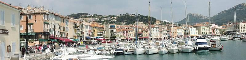 Cassis port de ville Yachtcharter sailing boats