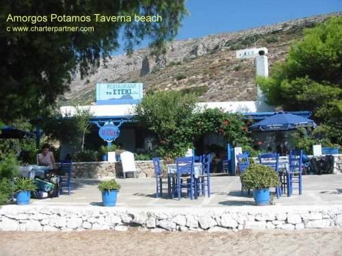 Aigiali Amorgos Taverna Port beach