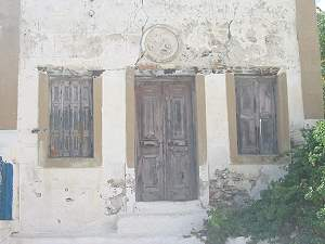 Ruin of an old bohemian house in  Astipalaia