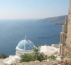 panoramic views to the aegean sea