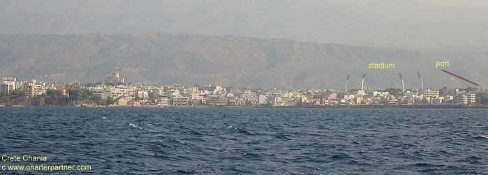 Chania Seaside Crete Charter Yacht sailing