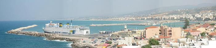 Rethimno Crete Hafenansicht Stadtansicht Panorama Rethimnion