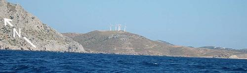 Leros windmills generating electricity