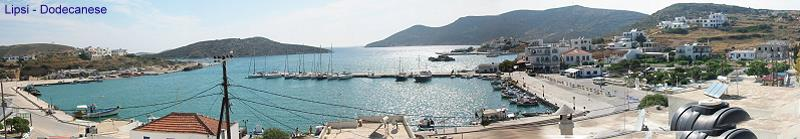 Port of Lipsi Dodecanese islands