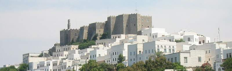 Patmos Dodecanese Greece the holy island of  the Apocalypse
