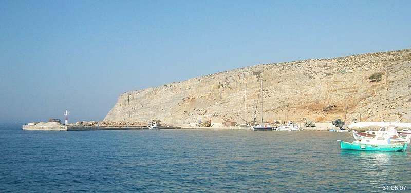 pserimos island yacht mooring quai