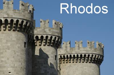 Festung der alten Kreuzritterkapitale Rhodos