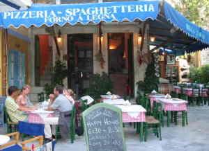 Pizzeria Symi Dodekanes Pizza Neapolitana close to Symi harbour