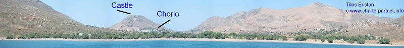 Tilos Eriston beach Greece Yachtcharter anchorage