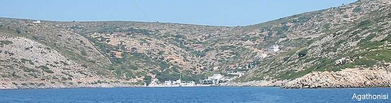 agathonisi Dodecanese Greece arroiving to port from south
