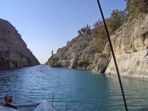 Passage durch den Kanal von Korinth