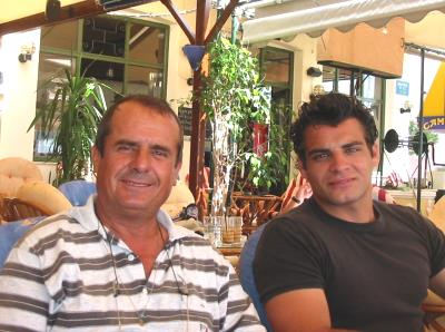 Iannis and Greg in Samos