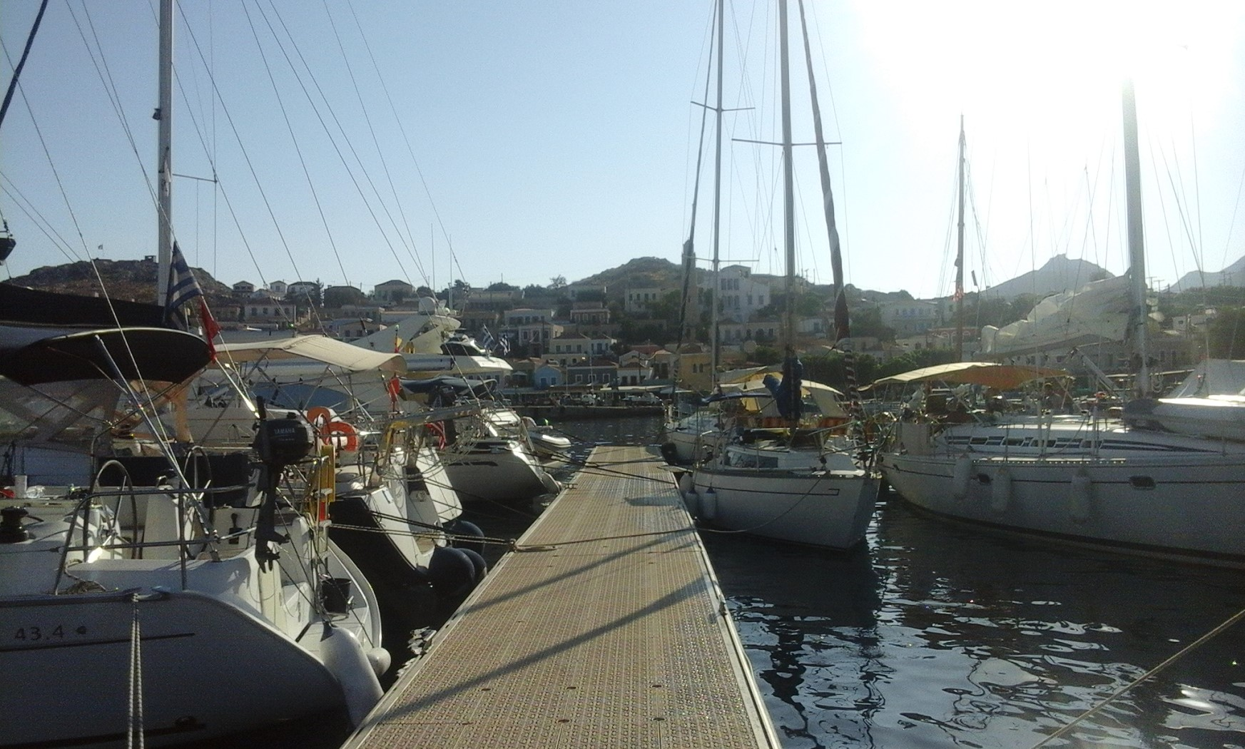 Jetty in Chalki Greece near Rhodes with Charteryachts